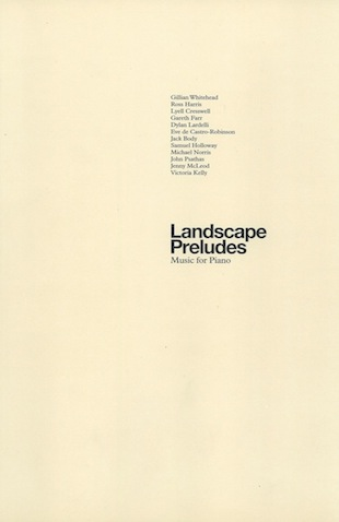 Landscape Preludes - hardcopy SCORE