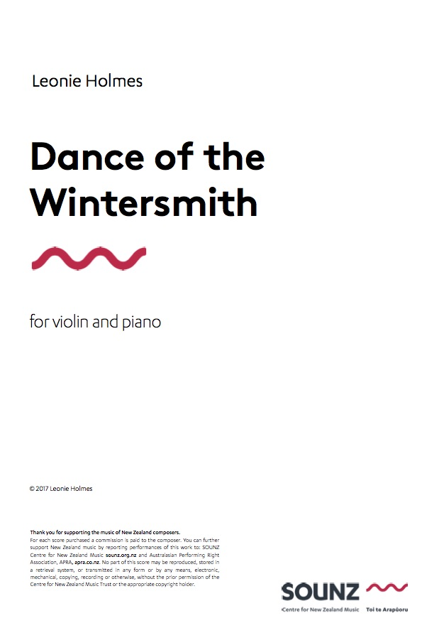 Leonie Holmes: Dance of the Wintersmith - hardcopy SCORE and PART