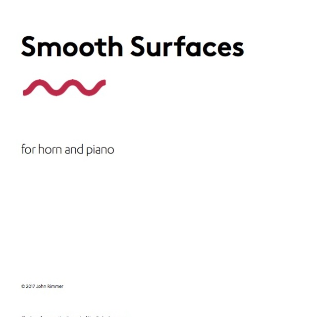 Small smooth surfaces full score