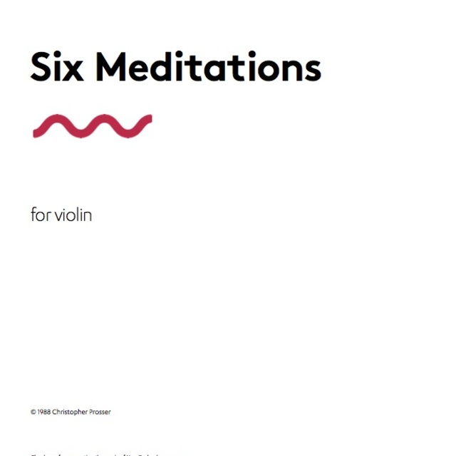 Small six meditations