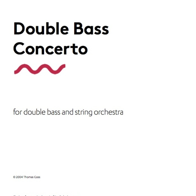 Small bass concerto full score