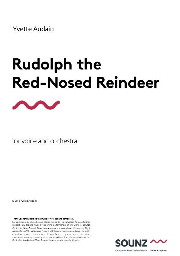 Yvette Audain: Rudolph the Red-Nosed Reindeer - hardcopy SCORE