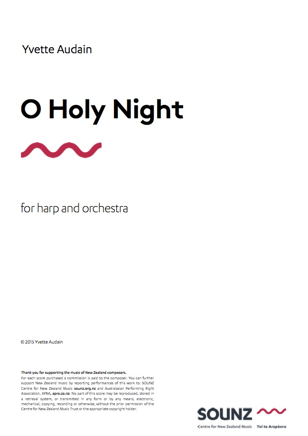 Yvette Audain: O Holy Night - hardcopy SCORE