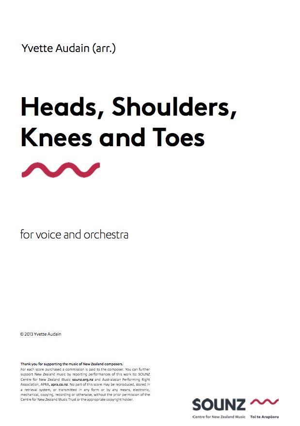 Yvette Audain: Heads, Shoulders, Knees and Toes - hardcopy SCORE