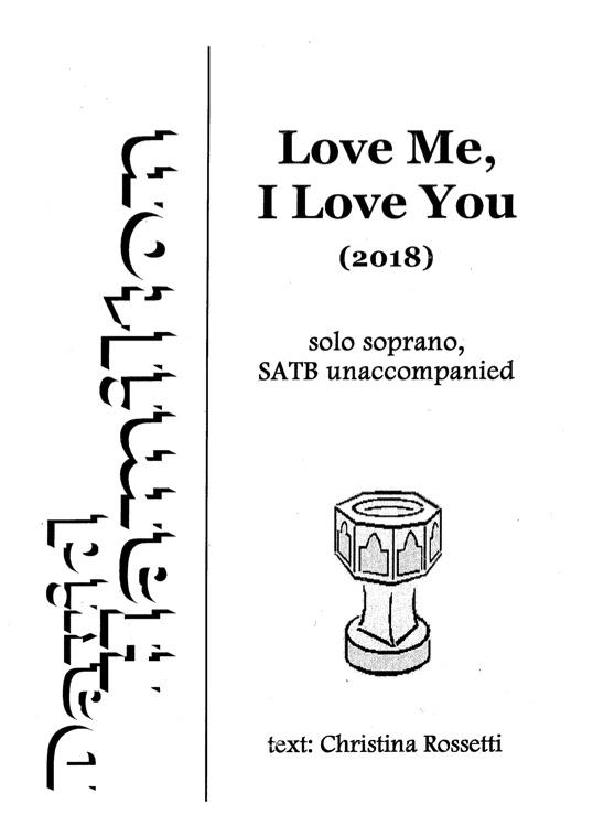 David Hamilton: Love Me, I Love You - hardcopy SCORE