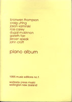 The Waiteata Music Press Piano Album - hardcopy SCORE