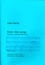 Ross Harris: Three Rilke Songs - hardcopy SCORE