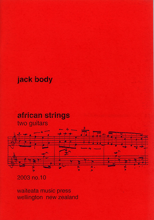 Jack Body: African Strings - hardcopy SCORE