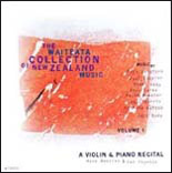 Waiteata Collection of New Zealand Music Vol. 1 - A Violin and Piano Recital - CD